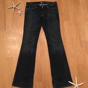 """7 FOR ALL MANKIND """"A"""" Pocket dark wash jeans Sz 29"""